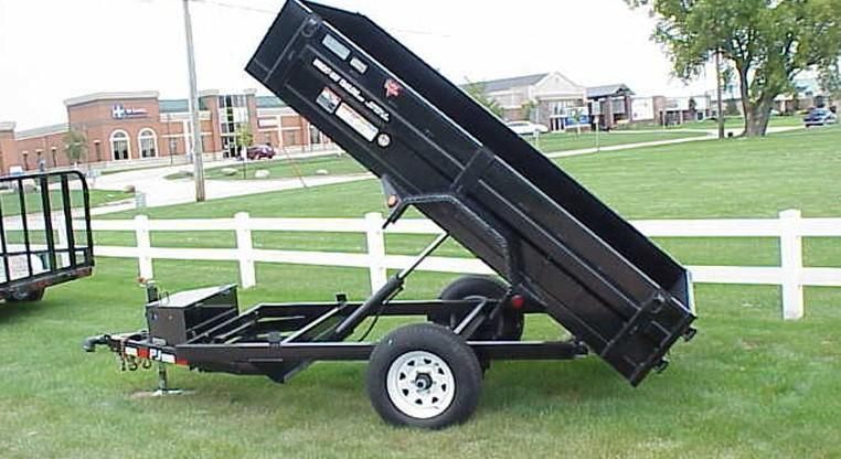 PJ 5 X 10 Single Axle Dump Trailer