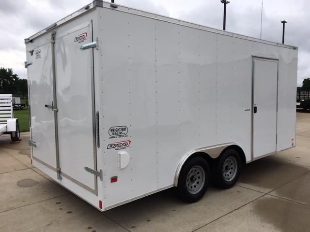"""2019 Bravo 8.5 x 16 w/ 30"""" V-Nose Enclosed Cargo Trailer"""