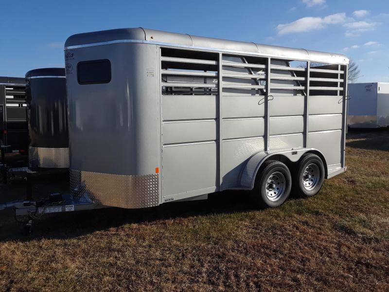 Delta 3 Horse Slant Load Trailer 16'