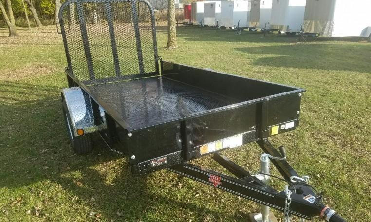 PJ 5 X 10 Steel Bed Utility Trailer