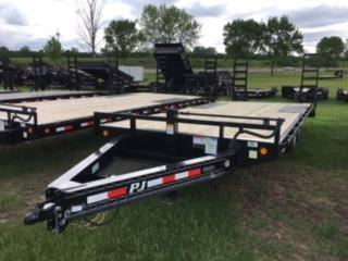 PJ 20 / 22 / 24 x 8 I- Beam Deckover with Fold Up Ramps