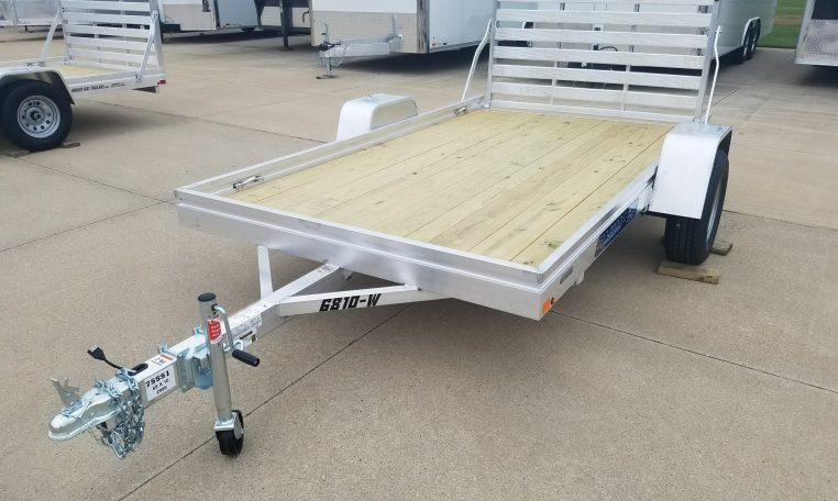 Aluma 6810 Wood Deck Utility Trailer