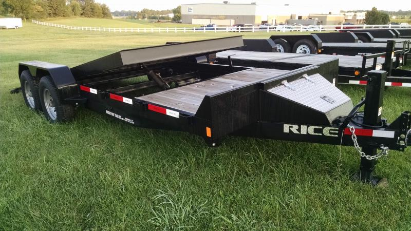 "2016 RICE 6'10"" X 20' PARTIAL TILT TRAILER"