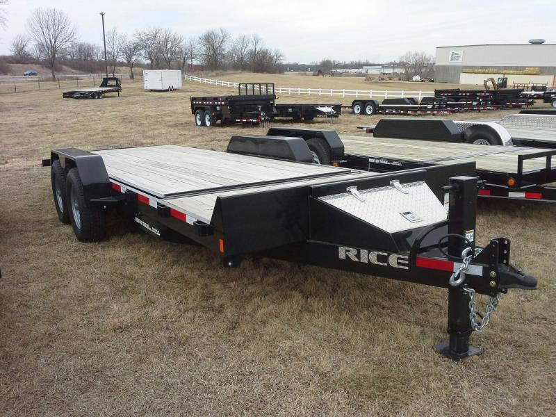 "RICE 6'10"" X 20' PARTIAL TILT TRAILER"