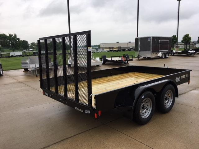 2018 Rice 82 x 12 Tandem Axle Utility Trailer