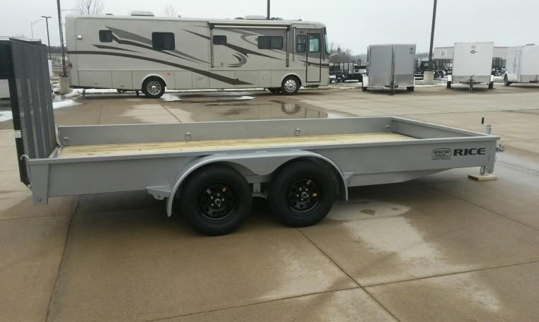 Rice Trailers Stealth 82 X 16 Tandem Axle Utility Trailer