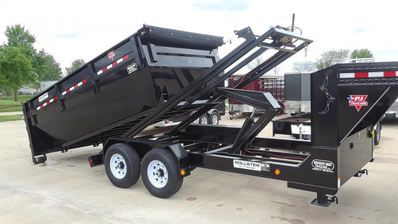 2020 PJ 14' Rollster Roll Off Dump Trailer