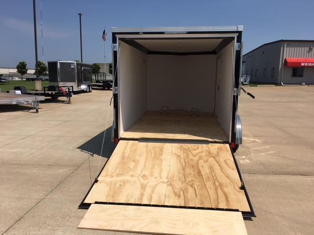 "2019 United  7 x 12 + 28"" V-Nose Motorcycle Trailer"