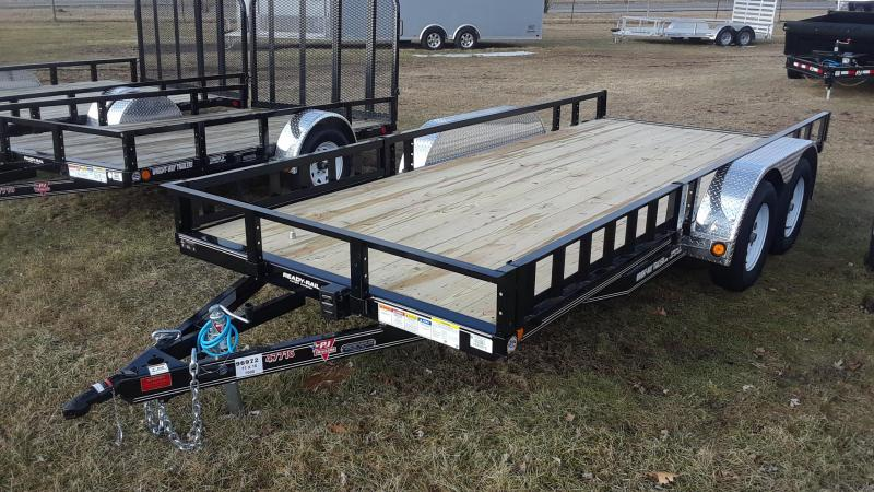 "2019 PJ 16' x 77"" Channel Utility Trailer"