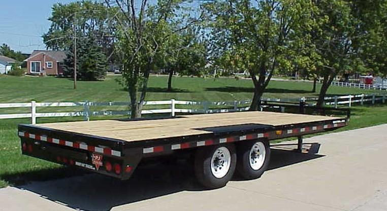 PJ 20 / 22 / 24 x 8 I- Beam Deckover with Slide Out Ramps