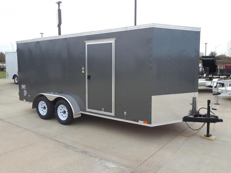 2019 United Trailers 7X16 Enclosed V-Nose Cargo Trailer