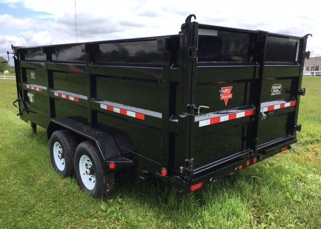 PJ 83 X 16 XL Gooseneck High Side Dump Trailer