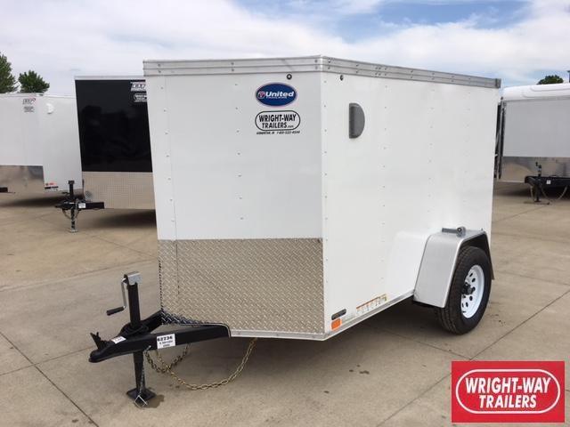 2019 United 5X8 V-Nose Cargo Trailer
