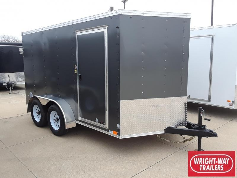 2019 United 7X12 V-Nose Enclosed Cargo Trailer