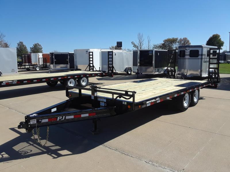 2019 PJ Trailers 20' Flatbed Deckover Trailer in Bancroft, WI
