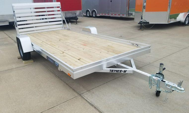 Aluma 7814 Wood Deck Utility Trailer
