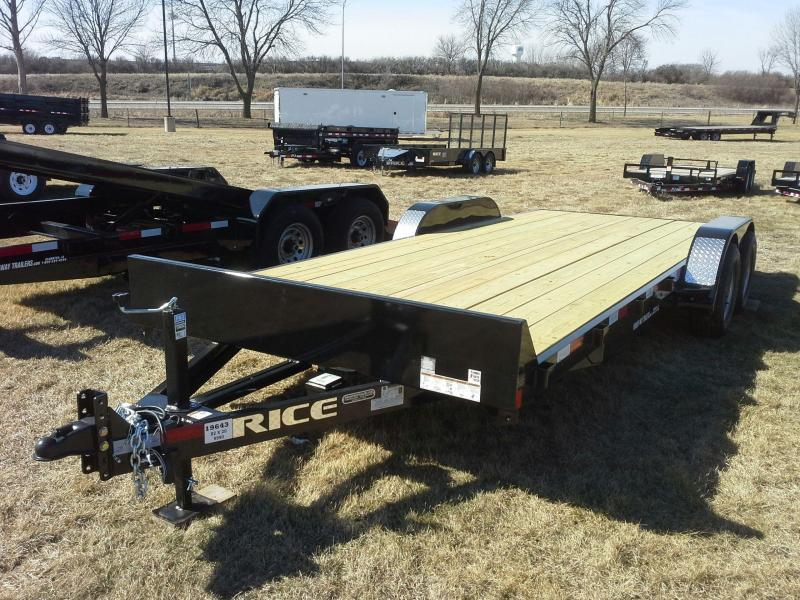RICE 82 X 20 TANDEM AXLE OPEN CAR TRAILER