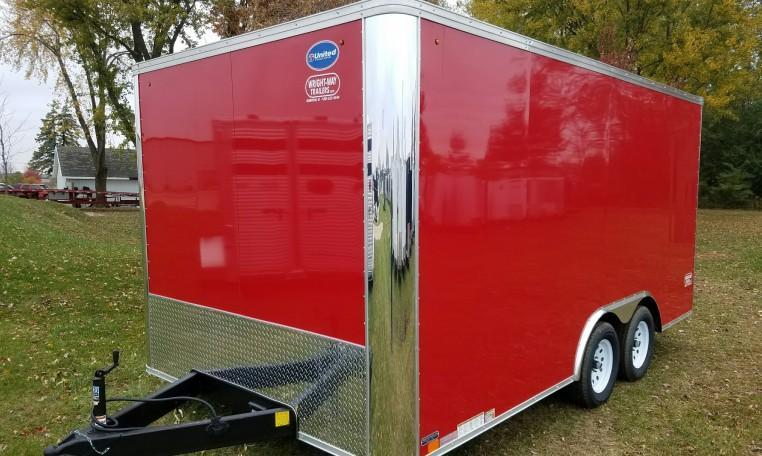 United XLT 8.5 x 16 Enclosed Race Trailer