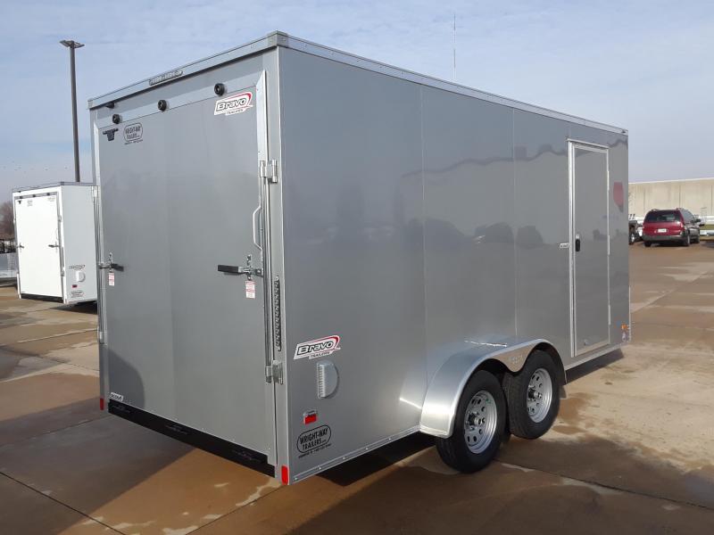 2019 Bravo 7x16 V-Nose Enclosed Cargo Trailer