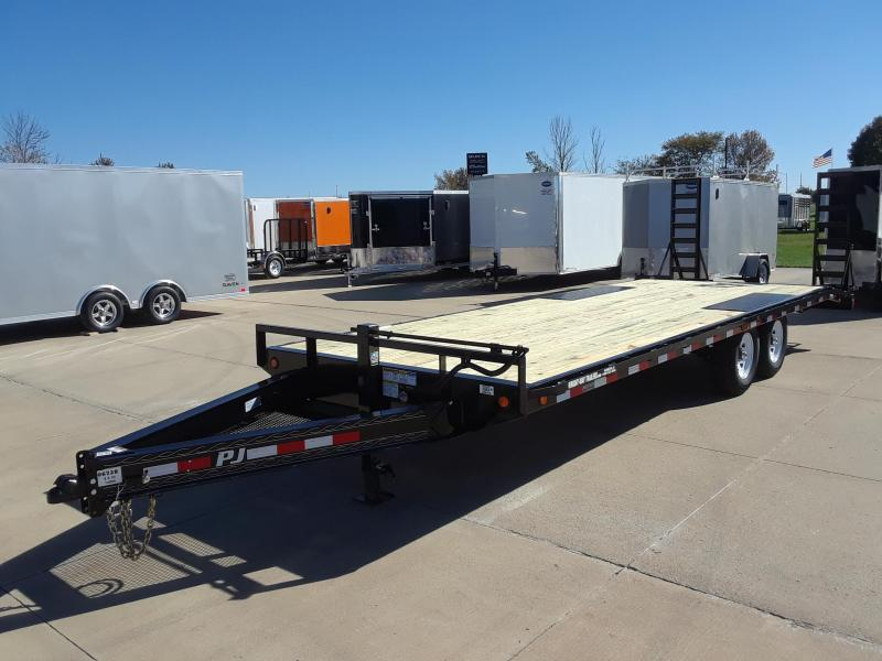 2019 PJ Trailers 24' Flatbed Deckover Trailer in Dallas, WI