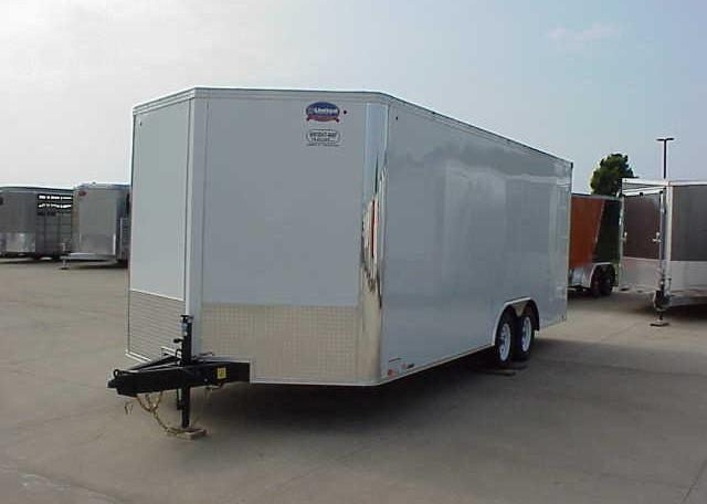 2018 United XLTV 8.5 x 23 V-Nose Enclosed Race Trailer