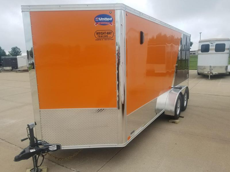 2019 United Trailers XLMTV 7X16 Motorcycle Trailer
