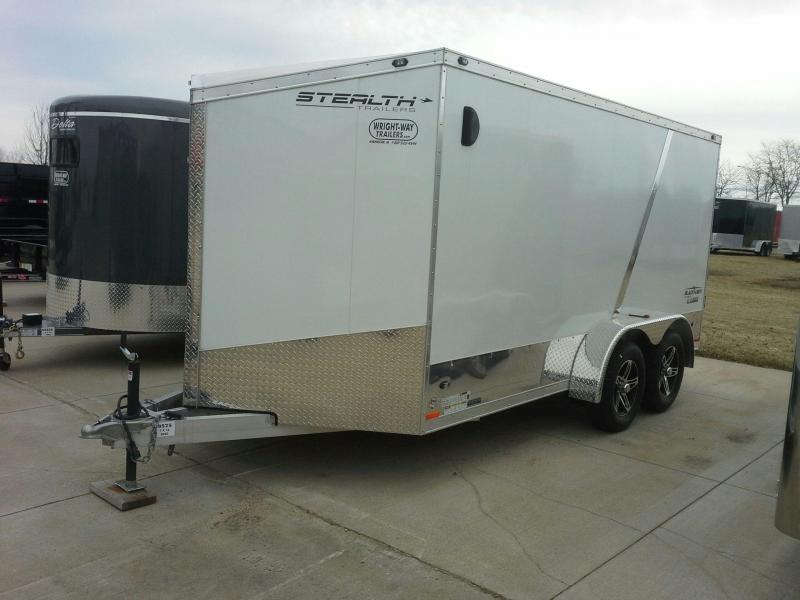 STEALTH 7' X 14' BLACKHAWK ALUMINUM MOTORCYCLE TRAILER