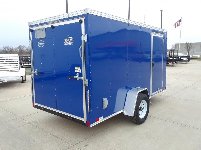 2019 United Trailers 6x12 V Nose Enclosed Cargo Trailer