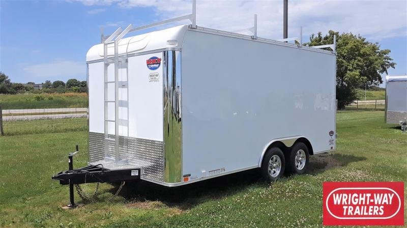 United 8.5X16 Tool Crib Enclosed Cargo Trailer