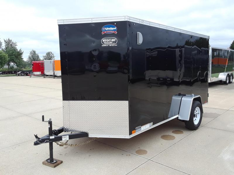 2019 United Trailers 6X12 Enclosed V-Nose Cargo Trailer