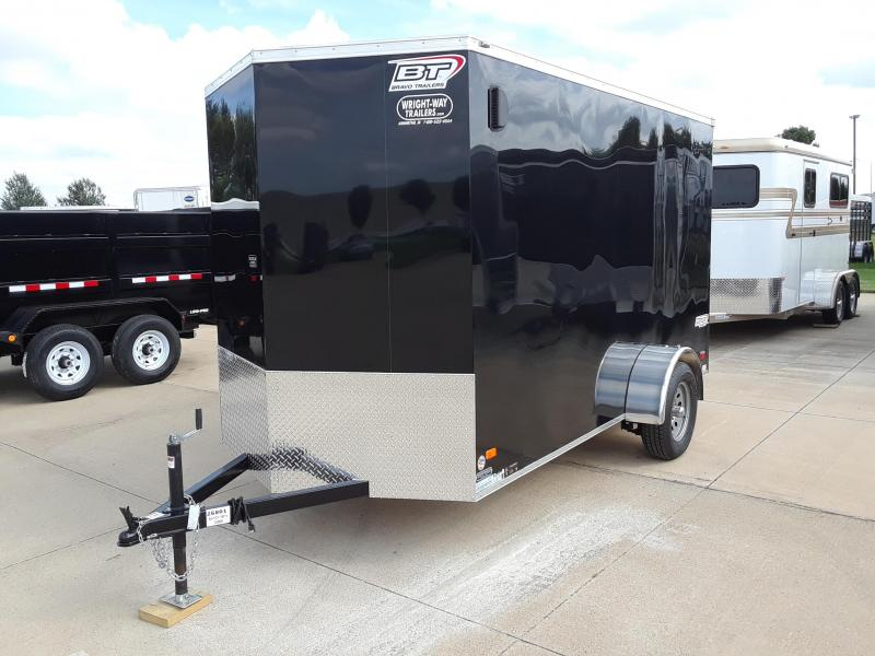 2019 Bravo 6X12 V-Nose Enclosed Cargo Trailer