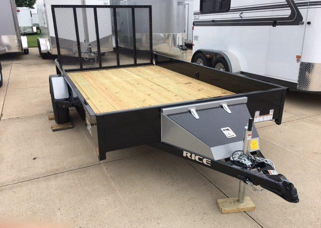 Rice 82 x 12 Single Axle Utility Trailer
