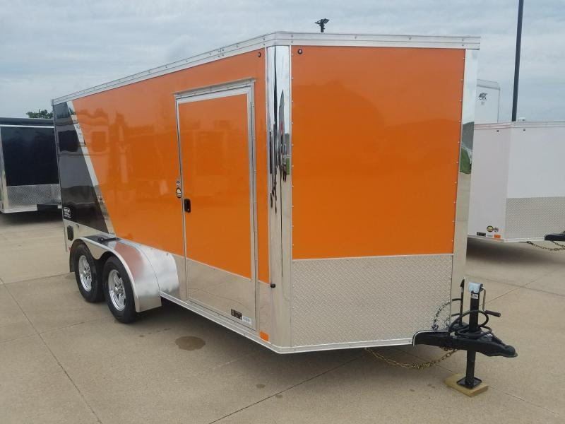 2019 United Trailers XLMTV 7X14 Motorcycle Trailer