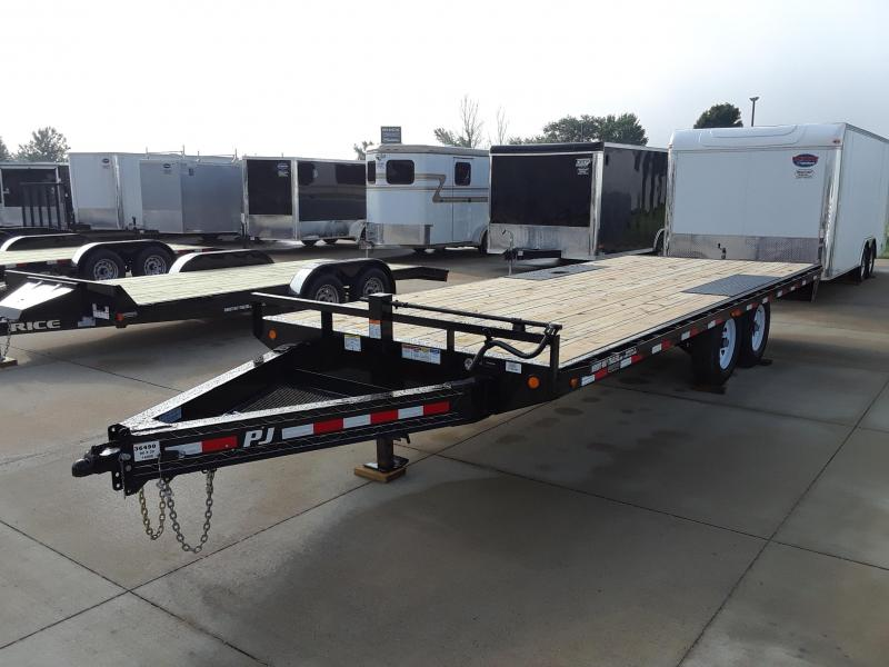 2019 PJ Trailers 20' Deckover Flatbed Trailer in Wascott, WI
