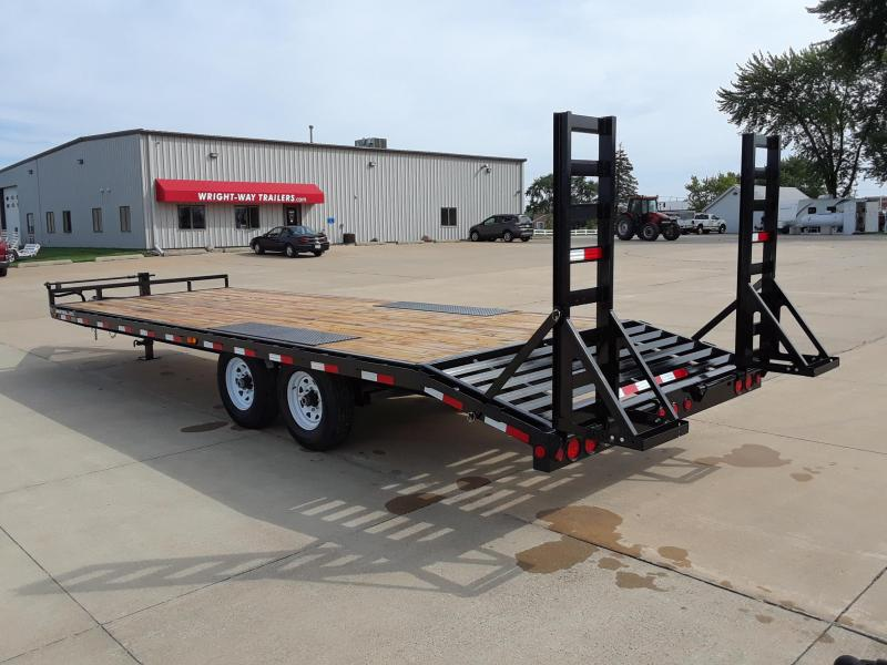 2019 PJ Trailers 24' Deckover Flatbed Trailer in Herbster, WI