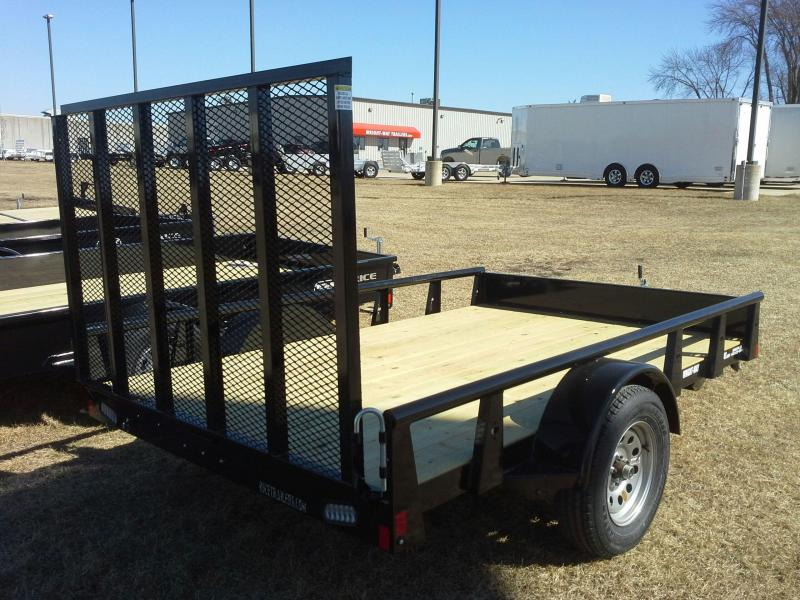 "2018 RICE 76"" X 10' PIPE RAIL UTILITY TRAILER"