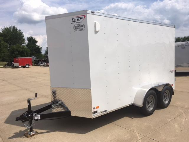 "2019 Bravo 6 X 12 + 18"" V-Nose Tandem Axle Enclosed Cargo Trailer"