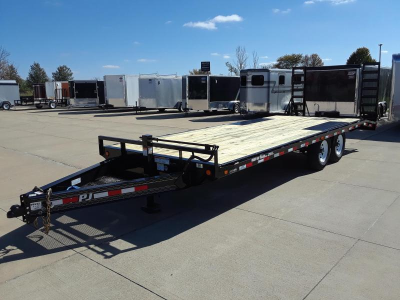 2019 PJ Trailers 22' Deckover Flatbed Trailer in Wascott, WI