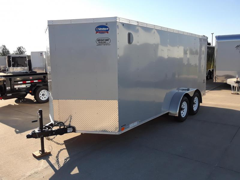 2019 United Trailers 7X16 Enclosed V-Nose Cargo Trailer