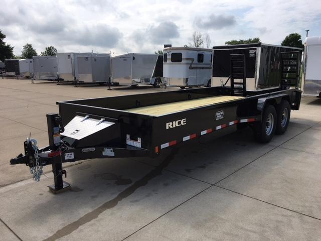 "2018 Rice 6'10"" X 20' Flatbed Trailer in Wascott, WI"
