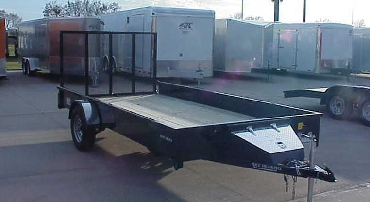 Rice Trailers 82 X 14 Single Axle Utility Trailer