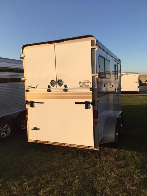 2018 HAWK 2H Custom Straight Load - Walk Thru - Ramp Horse Trailer
