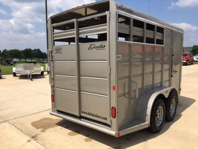 Delta 14' 2 Horse Slant Horse Trailer