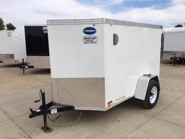 "2019 United XLV 5 x 8+ 24"" V Nose  Cargo Trailer"