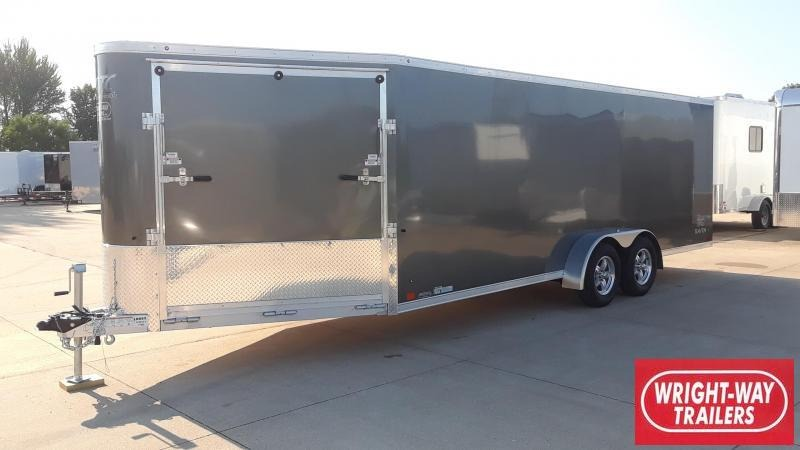 ATC 20' Enclosed Snowmobile Trailer Aluminum