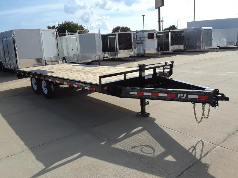 2019 PJ Trailers 20' Deckover Flatbed Trailer in Harshaw, WI