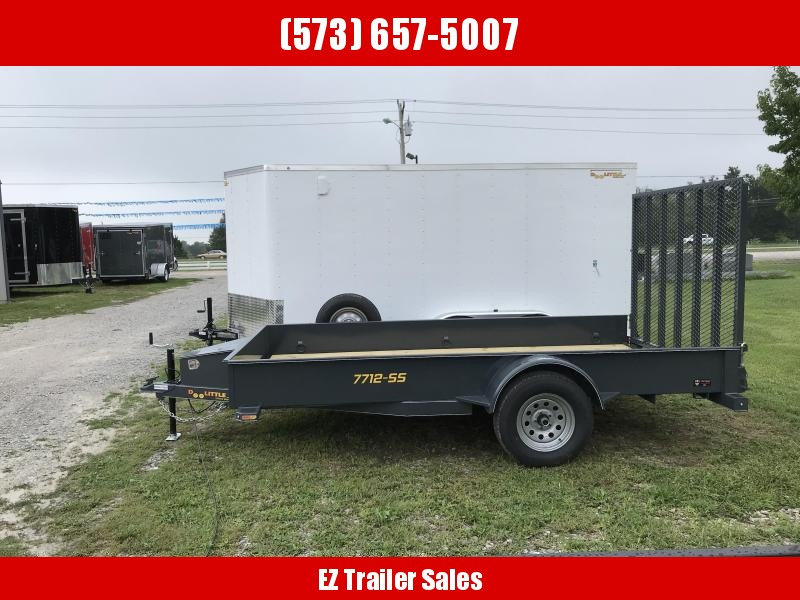 2019 Doolittle Trailer Mfg 77x12 Steel Side Utility Trailer