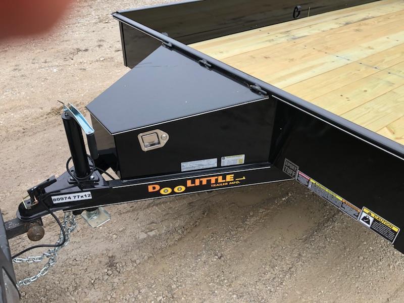 2019 Doolittle Trailer Mfg 77x12 Steel Side Utility Trailer