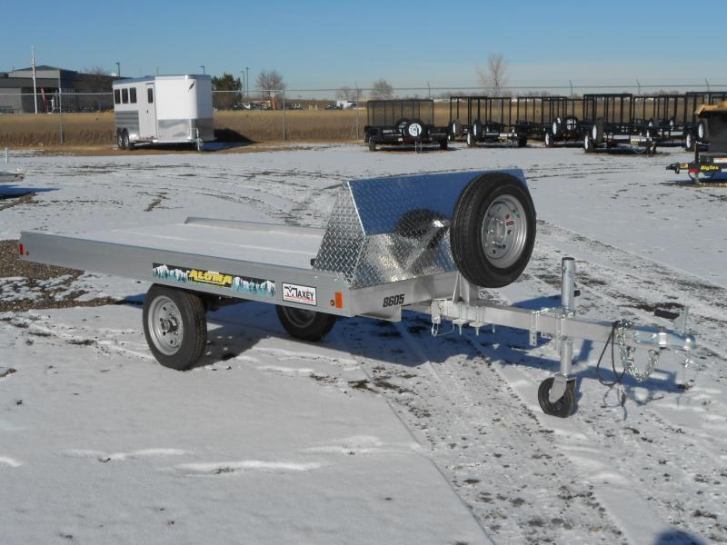 2018 Aluma 8605 Single Place Tilt Snowmobile Trailer