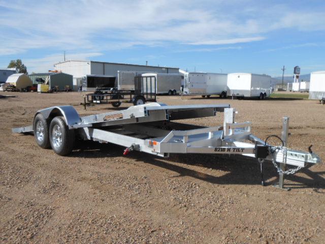 2020 Aluma 8218H-TILT All Aluminum Tilt Deck Car / Racing Trailer